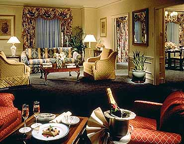 View of a guest suite at the Ambassador East Hotel
